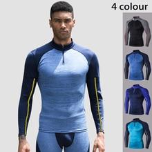 Gym Clothing Shirt Sportswear Long-Sleeve Fitness Bodybuilding Man Pro Spandex Tight