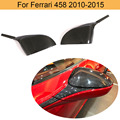 Trockenen Carbon Faser Auto Seite Spiegel Abdeckungen Kappen Für Ferrari 458 2010 2015 Auto Rückspiegel Abdeckungen Caps Shell hinzufügen Auf Stil-in Spiegel & Abdeckungen aus Kraftfahrzeuge und Motorräder bei