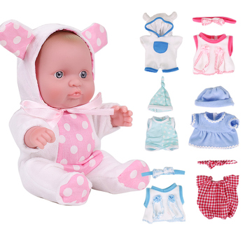 8 inch Newborn Baby Doll Full Silicone Dolls Toy For Kids Toddler Playmate Babies Reborn Doll For Girls Birthday Gift Toys wholesale 23 fashion doll reborn babies full silicone vinyl newborn dolls blonde wig baby toys for princess birthday gifts