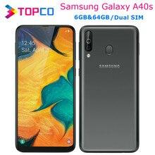 Samsung galaxy a40s a3050 original 4g lte núcleo octa do telefone móvel android 6.4