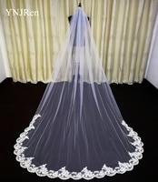 3 Meter Cathedral Wedding Veils Long Lace Edge Bridal Veil with Comb Wedding Accessories Bride Mantilla Wedding Veil 1