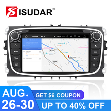 Android 6.0 2 Din 7 Inch Car DVD Player For FORD/Focus/Mondeo/S-MAX/C-MAX/Galaxy 2GB RAM 32G ROM 3G/4G Wifi GPS Radio цены