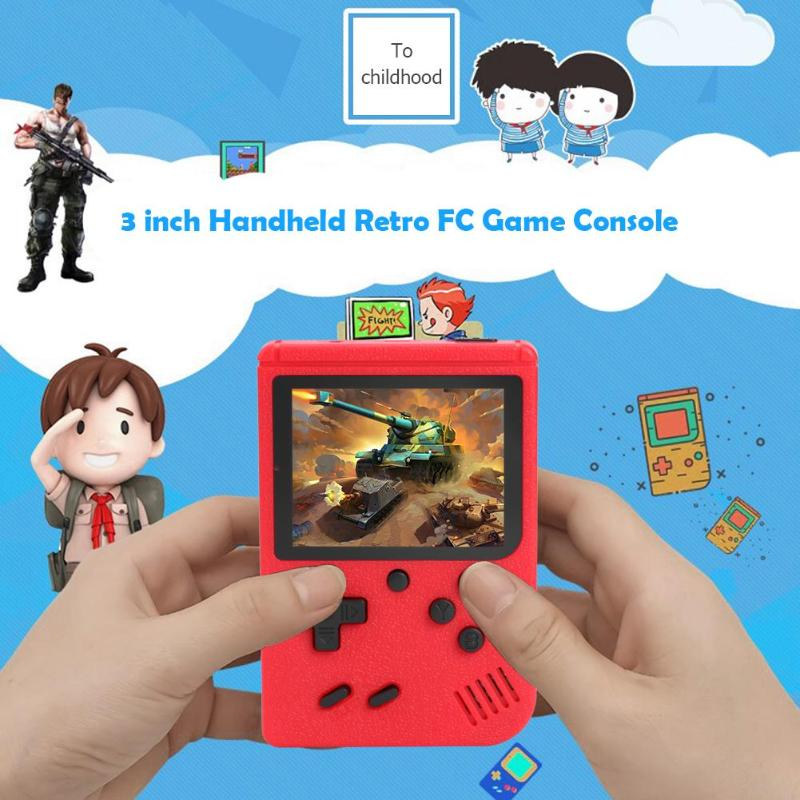 Portable 3 Inch Screen Handheld Retro Games Consoles With 400 Games for FC Games for Kids Boys Girls Chinese English Optional