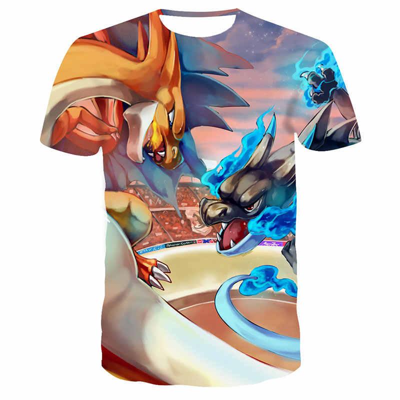 2020 neue Pokémon hip hop von Pikachu 3D gedruckt T-shirt kinder T-shirt mode Oansatz lustige T-shirt