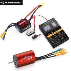 Original Hobbywing QuicRun WP-16BL30 Brushless Speed Controller 30A RC Car ESC + 2435 4500kv motor+ programe card Wholesale