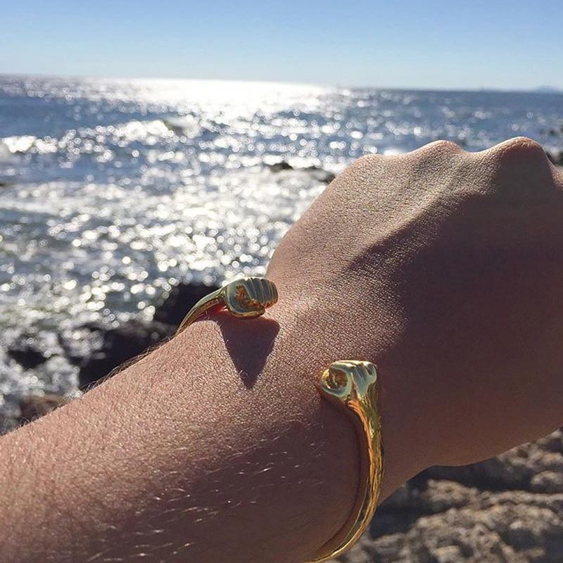 Aberta de Titânio Bracelete de Aço Mcllroy Pulseira Masculino Dourado Dubai – Brasil Unissex