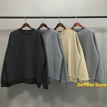 Temporada sólida 6 sweatshirts 20fw masculino kanye west kardashian hoodie veludo algodão temporada série hoodies dentro tag oversized