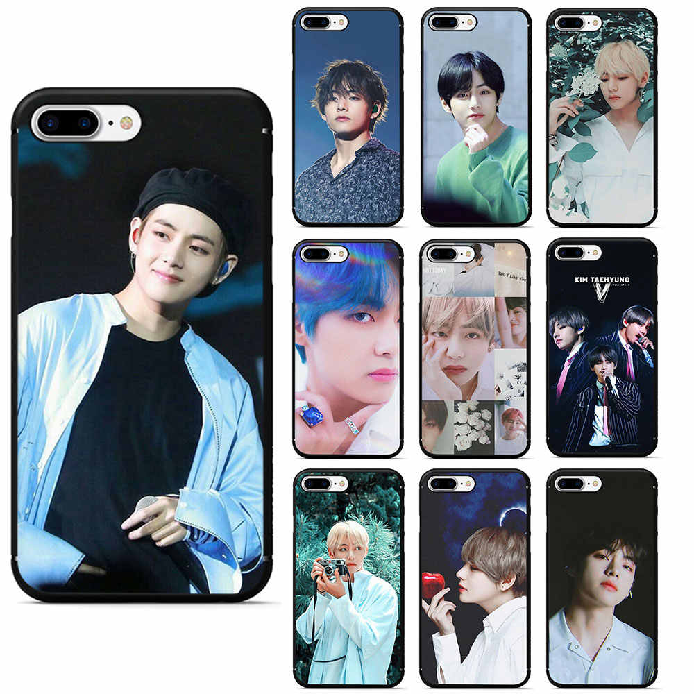 Kim V Taehyung Soft Tpu Siliconen Telefoon Case Voor Iphone 5 5 S 6 6 S 7 8 Plus 11 pro X Xr Xs Max
