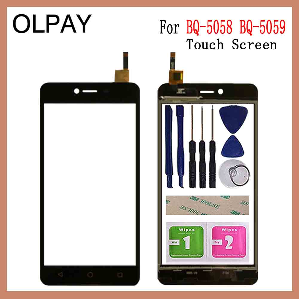 OLPAY 5.0'' Mobile Phone For BQ-5059 BQ 5059 BQ5059 Touch Screen Digitizer Touch Panel Touchscreen Sensor Front Glass