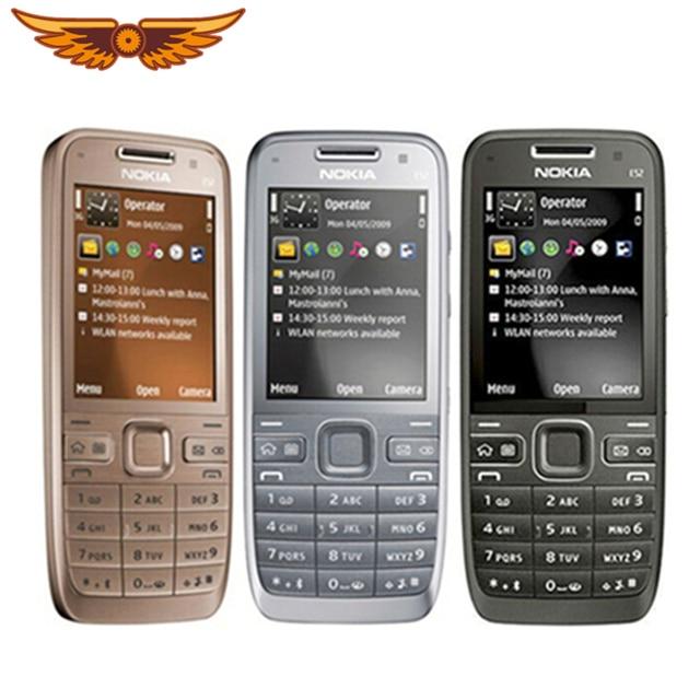 E52 מקורי נוקיה E52 Bluetooth WIFI GPS 3G טלפון סלולרי משופץ עם וערבית רוסית מקלדת טלפון נייד3g cell phonecell phonesphone refurbished