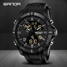 цена на Red Color Sport Watch Men Watches Blue And White Waterproof Men Protected Watch Digital Watch Orange Outdoor Reloje Hombre Negro