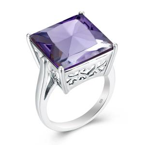 Szjinao 2.26Ct Natural Amethyst Gemstone Finger Ring 925 Sterling Sliver Vintage Rings For Women Fine Jewelry Anillos Favourite(China)
