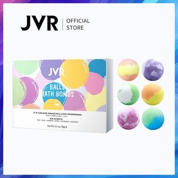 JVR 70g*6pcs/Box Bath Bomb Handmade Essential Oil Moisturizing Bath Salt Rose/Mint/Lavender/Lemon Bath Bubble Balls Body Cleaner 1