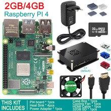 Выпущен Raspberry Pi 4 Модель B 4 GB/2 GB/1 GB SDRAM BCM2711 четырехъядерный охлаждающий вентилятор корпус коробка адаптер питания стартовый комплект