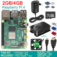 2019 released original Raspberry Pi 4 Model B 4GB/2GB/1GB SDRAM BCM2711 Quad core Cooling Fan Case Box Power Adapter Starter Kit(China)