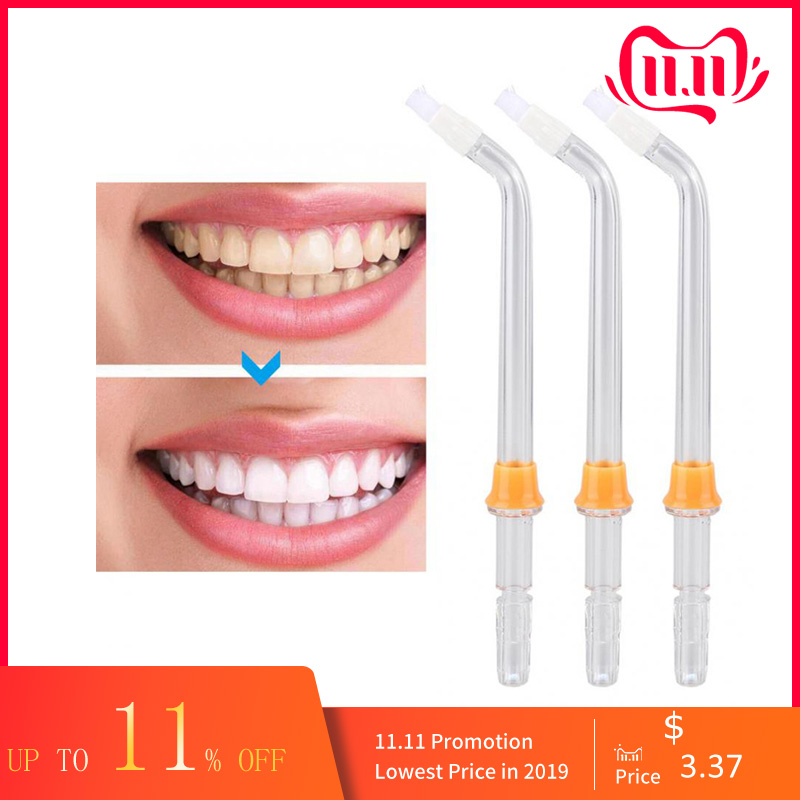 3 Pieces Replacement Orthodontic Tip Jet Nozzle Fit For Waterpik Oral Irrigator Water Flosser Denture And Dental Braces Cleaning