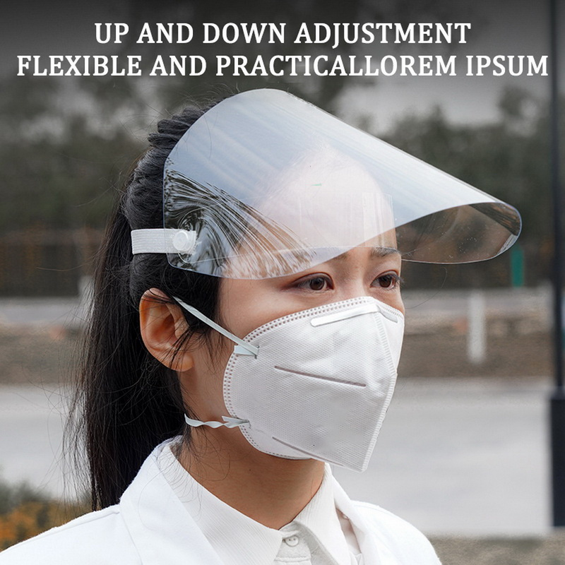 1PC Protective Adjustable Anti Droplet Dust-proof Full Face Cover Ffp3 Mask Visor Shield Droplet Windproof Face Shield Washable