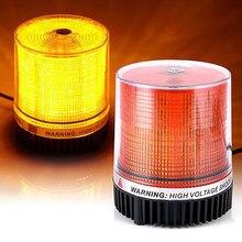 1 pces led luz de advertência do carro de engenharia luz estroboscópica 12-24v telhado de emergência sinal de tráfego magnético piscando luz