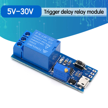 Smart Electronics 5V-30V Micro USB Power Adjustable Delay Relay Timer Control Module Trigger Switch - discount item  5% OFF Games & Accessories