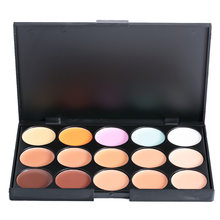 Hot Sale Brand 15 Mini Colors Base Con cealer Foundation Face Contour Palette Bronzer Corrector Primer Contouring(China)