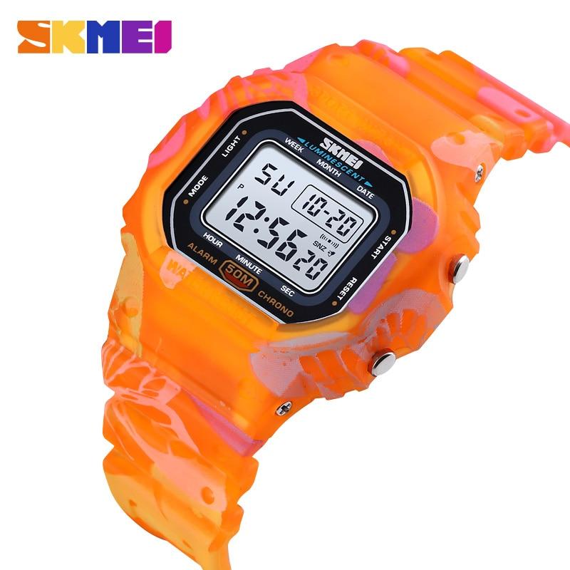 Дети часы SKMEI Outdoor Sport Cmouflage Digital часы для мальчиков многофункциональный водонепроницаемый девушка наручные часы 1608