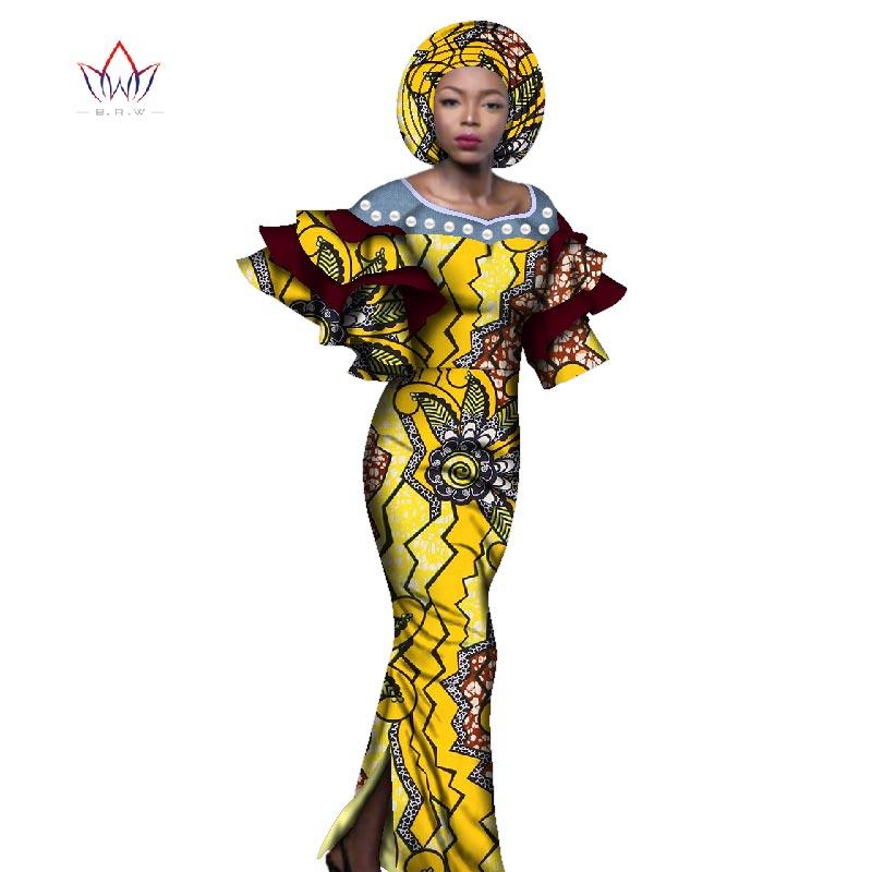 African Dresses For Women Dashiki Cotton Dresses Africa Wax Ankara Print Long Dress Natural Plus Size 6XL Ladies Clothes WY2607