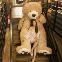 100 cm-200 cm amérique géant ours en peluche jouets en peluche doux ours en peluche peau anniversaire populaire et cadeaux de saint-valentin pour les filles jouet d'enfant