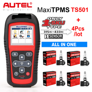 Image 1 - Autel TPMS Sensor MX Sensor 2 в 1 Инструменты для ремонта шин TPMS Sensor Support Программирование с TS501 TS508 равно 433 МГц + 315 МГц