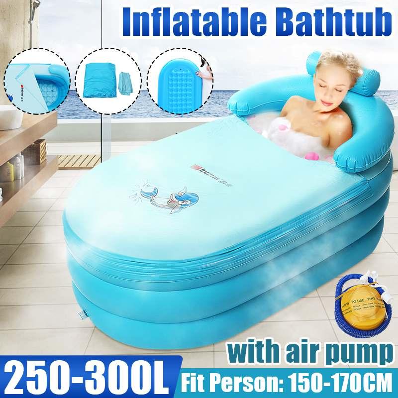 Inflatable Bathtub adult Foldable with Air Pump SPA Household inflatable Bath Tub Environmental PVC Folding Portable Bathtub