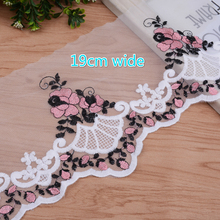 2 Models Exquisite Mesh Embroidery Water Soluble Tulle Lace Fabric DIY Clothes Neckline Skirt Curtain Hem Fast Making Sewing