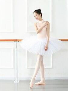 Image 4 - Sexy Dance Leotards One piece Dance Practice Clothes Women Lace Gymnastics Dancing Costume Adult High Collar Ballet Leotard