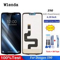 Für 6 18 zoll Doogee S90 LCD Display + Touch Screen 100% Getestet Screen Digitizer Montage Ersatz-in Handy-LCDs aus Handys & Telekommunikation bei