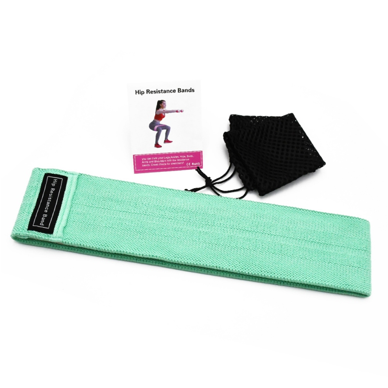 Unisex Resistance Band Workout Exercise Legs Thigh Glute Butt Squat Bands Non-slip Hip Lifting Resistance Band With Mesh Bag