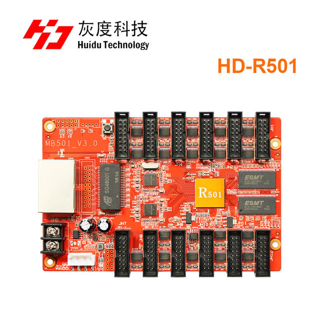 Huidu HD R501 asynchronous full color led receiving card led controller work with HD D30 for Outdoor advertising led