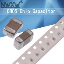 100pcs 0805 50V SMD multilayer ceramic chip capacitor 0.5pF-47uF 3.3PF 4PF 10NF 4.7NF 100NF 8.2NF 1UF 2.2UF 4.7UF 10UF 1PF 6PF