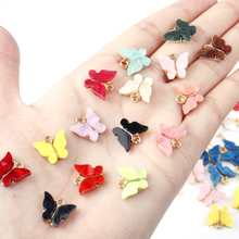 Lacoogh 10pcs/lot Golden Color Fashion Cute Butterfly Pendant Charms for Women Jewelry Necklace Making Statement Gifts Wholesale