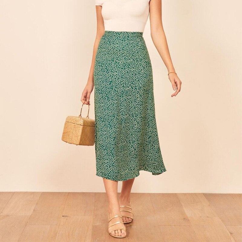 Summer Female Skirt Casual Flower Print Skirt
