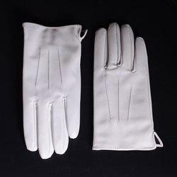 Männer ECHTE Leder Echt Leder Winter Warme Weiße Kurze Handschuhe
