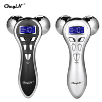 Micro current Vibration Massager 3D Roller Facial Massager Y Shape Rotating V Face Lift Face Massage Face Lifting Machine