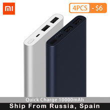 лучшая цена New xiaomi mi power bank 2s 10000 mAh Power Bank Quick Charge Power Bank 10000mAh 18W USB Output External Battery Pack F22