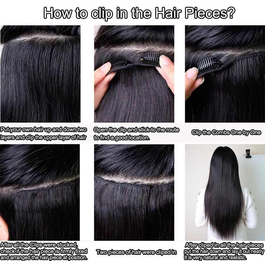Mi Lisa Haar Clip in Menschliches Haar Extensions Malaysische Gerade Menschliches Remy Haar 8 Stück Und 120 gr/satz Natürliche Farbe 10-24 zoll