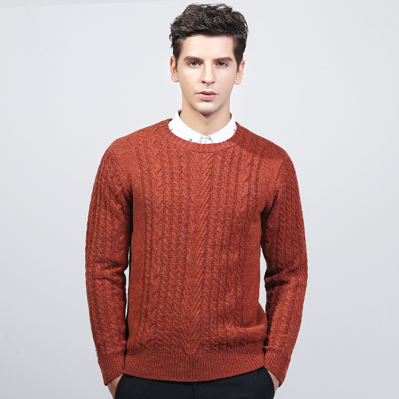 Sweater Turtle Neck 2019 Fashion Thicken Casual Sweater Coat Men Slim Sweater OvercoatLong-sleeved Monochrome Sweater Low Collar