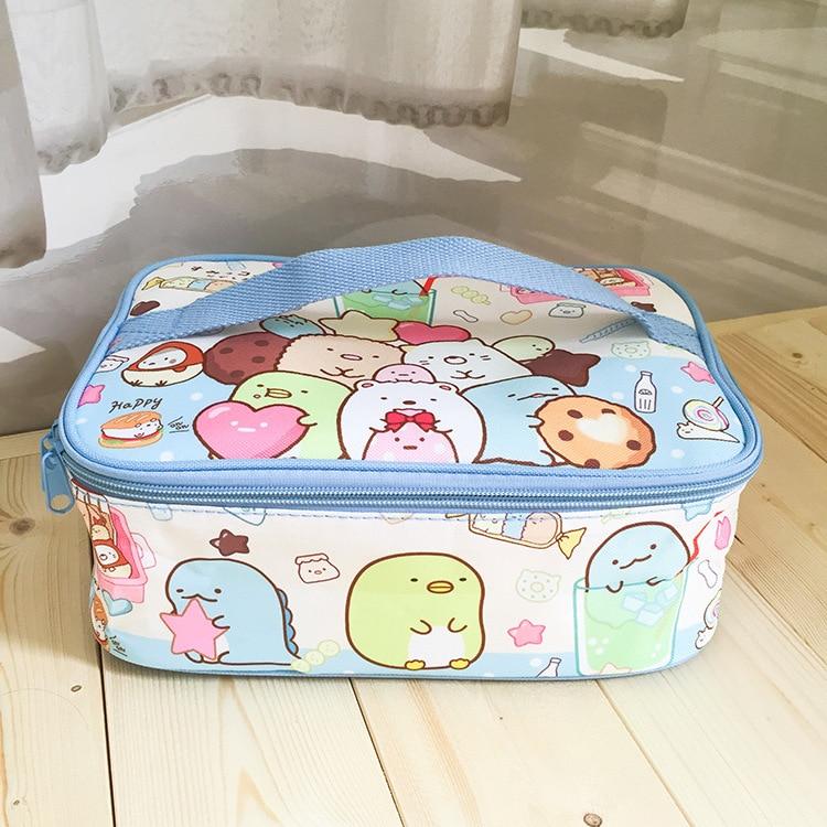 minha melodia cinnamoroll sumikko portátil piquenique alimentos sacos de lona bolsa de viagem
