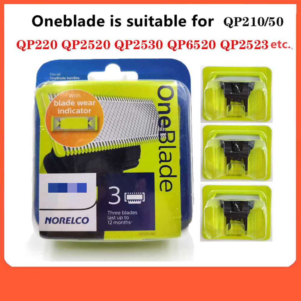 1/2/3 Pack Steel Replacement Blade For Philips Norelco Oneblade Razorelectric Shaver Replacement Blade for for Philips Oneblade