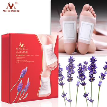 1 Box Lavender Detox Foot Patches Pads Nourishing Repair Foot Patch Improve Sleep Quality Slimming Patch Loss Weight Care