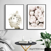 Abstract Art Beauty Canvas Painting Decoracion Nordica Posters And Prints Flower Poster Tableau Living Room Decoration Unframed