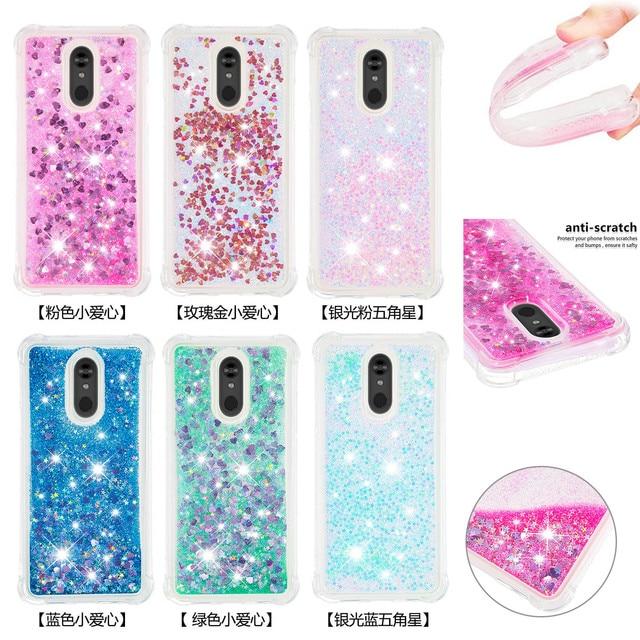 Liquid Quicksand Phone Cases For LG K40 K12 Plus Case Cover For LG Stylo 5 Luxury Glitter Bling Sequin Soft TPU Funda Coque Gift