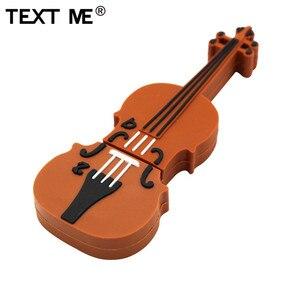 Image 3 - TEXT ME pen drive USB 2.0 com desenhos musicais, instrumento musical piano violão nota violino 4GB 8GB 16GB 32GB 64GB U disk