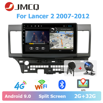JMCQ 10 Car Radio Android 9.0 For Mitsubishi Lancer 2 2007-2012 player Multimedia Video Players Stereo Split Screen with CANBUS jmcq 9 car radio 2 din android 9 0 player for kia sportage 2016 2018 multimedia video players stereos split screen with canbus