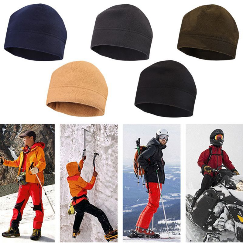 Unisex Outdoor Winter Fashion Tactics Fleece Caps Men And Women Windproof Warm Hiking Mountaineering Hat